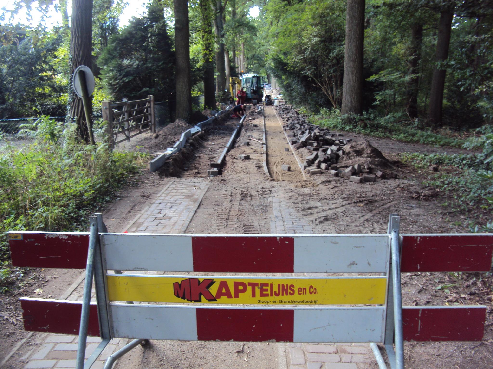 Kapteijns bv bestratingen en grondwerk bij Den Bosch